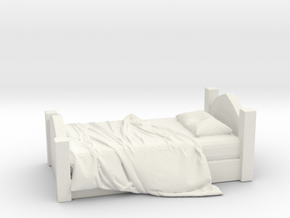 Printle Thing Unmade Bed - 1/24 in White Natural Versatile Plastic
