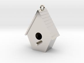 Birdhouse Pendant in Platinum