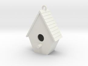 Birdhouse Pendant in White Strong & Flexible