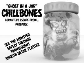 ChillBones - Ghost-in-a-Jar in Smooth Fine Detail Plastic: Small