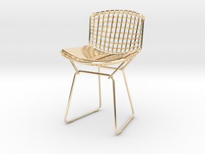 "Knoll Bertoia Side Chair 3.9"" tall in 14K Yellow Gold"