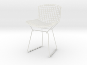 """Knoll Bertoia Side Chair 3.9"""" tall in Smooth Fine Detail Plastic"""