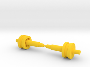 Gyrotron Drive Shafts in Yellow Processed Versatile Plastic