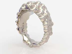 Bubble Ring in Fine Detail Polished Silver: 7 / 54