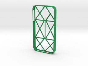 iPhone 4/4s multiline case in Green Strong & Flexible Polished