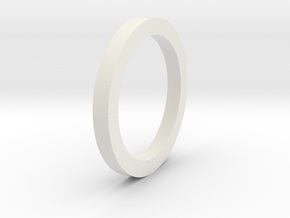 Square sectioned ring in White Natural Versatile Plastic