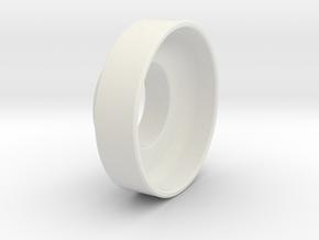 Small Handwheel in White Natural Versatile Plastic