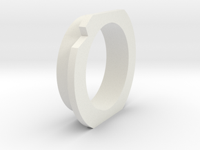 Outer threaded tension ring in White Natural Versatile Plastic