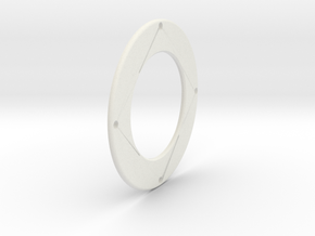 Large Toothed Friction ring in White Natural Versatile Plastic