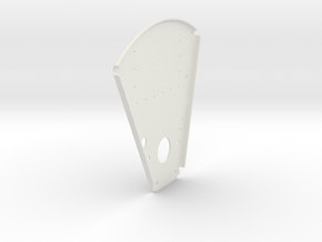 Back Plate in White Natural Versatile Plastic