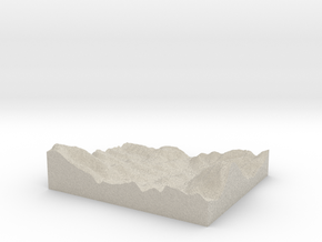 Model of Sułkowice in Natural Sandstone