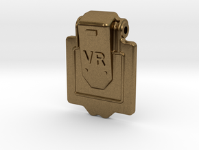 VR Axlebox Oil Cover Lid - 1' scale in Natural Bronze