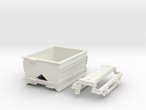 """HOn30 """"All Steel"""" EFPP Gondola in White Natural Versatile Plastic"""