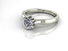 Classic tulip Solitaire 2 NO STONES SUPPLIED in Fine Detail Polished Silver