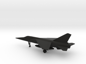 Dassault Mirage F1 (with fuel tank) in Black Natural Versatile Plastic: 1:200