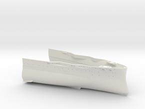 1/350 USS Oklahoma (1941) Bow in White Natural Versatile Plastic