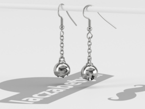 Chain Chomp Earring in Polished Silver: Medium