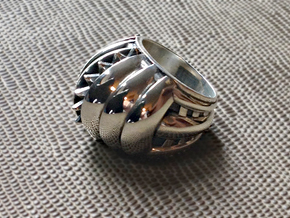 Rising Sun Ring - Size 13 (22.20 mm) in Polished Silver