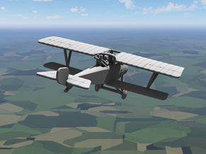 Nieuport 20 in White Natural Versatile Plastic: 1:144