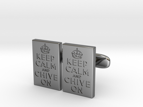KCCO Cufflink Pairs in Fine Detail Polished Silver