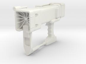 Miniature Laser Pistol - Fallout 3 - 10cm in White Natural Versatile Plastic