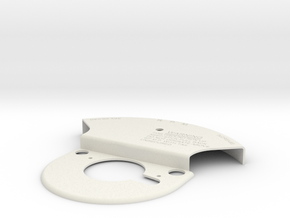P51 throttle Front plate in White Natural Versatile Plastic