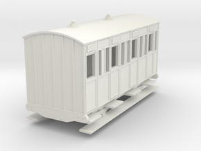 o-re-87-eskdale-3rd-class-coach in White Natural Versatile Plastic