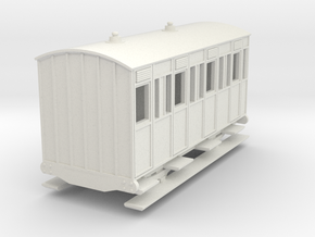 o-re-76-eskdale-3rd-class-coach in White Natural Versatile Plastic