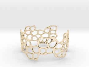 Cells Bracelet (open, 64mm) in 14K Yellow Gold