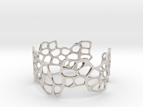 Cells Bracelet (open, 64mm) in Platinum