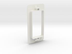 Receptacle Bearing Extender in White Natural Versatile Plastic