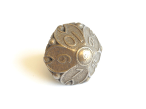 D10 Balanced - Cherry Blossom in Polished Bronze Steel