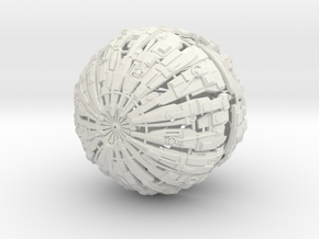 Massive Cyborg Sphere in White Natural Versatile Plastic