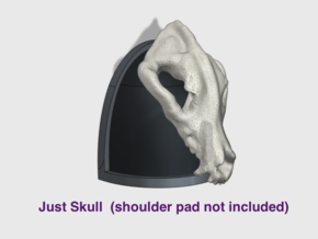 40x Real Wolf Skull : Large Shoulder Add-on in Smooth Fine Detail Plastic