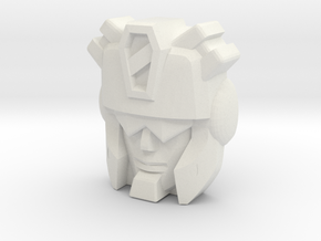 Carnivac Face, Upscaled in White Natural Versatile Plastic