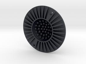 UFO fidget toy in Black PA12