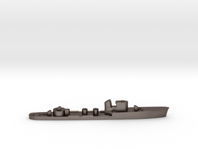 Italian Lupo torpedo boat 1:3000 WW2 in Polished Bronzed-Silver Steel
