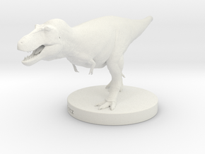 T.rex Model 1/85 or 1/50 Scale (Base) in White Natural Versatile Plastic: Small