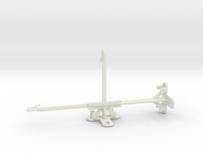 Motorola One Action tripod & stabilizer mount in White Natural Versatile Plastic