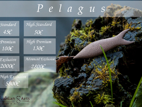 Pelagus Pendant in Raw Brass
