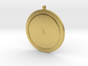 Geometric Pendant KTPF03 3D Model STL in Polished Brass