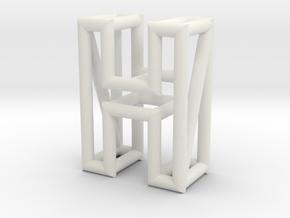 H in White Natural Versatile Plastic