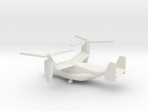 Bell Boeing V-22 Osprey in White Natural Versatile Plastic: 1:285 - 6mm