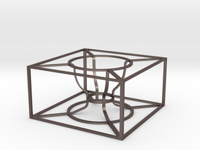Wireframe Egg Cup in Polished Bronzed-Silver Steel