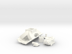 1/8 BBC High Rise Single Plane 4 BBL System in White Processed Versatile Plastic