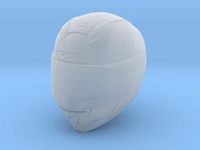 Type Sh motorcycle helmet 1/18 in Smooth Fine Detail Plastic