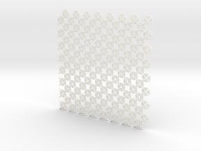 Fabric Sample Base Pattern in White Processed Versatile Plastic