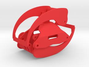 Holzgreifer in 1:18 für Ladekran in Red Processed Versatile Plastic