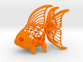 Goldfish Figurine in Orange Processed Versatile Plastic