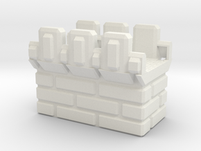 Straight_Brick_Top in White Natural Versatile Plastic